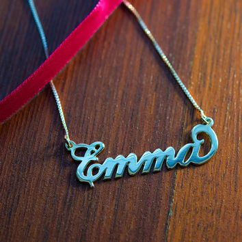 Sterling Silver Carrie Style Name Necklace