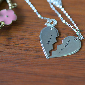 Sterling Silver Breakable Hearts Necklace