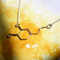 Dopamine Love Molecule Necklace Pleasure Passion by Exaltation