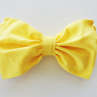 Lemon Yellow Sunshine Bikini Bow Bandeau top by PitaPataDiVa
