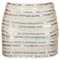 Pearl and Sequin Mini Skirt - Skirts - Clothing - Topshop
