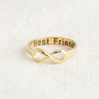 Best Friends infinity ring in gold by applelatte on Etsy