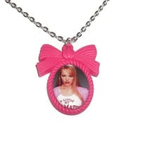 Regina George Necklace, Hot Pink Cameo, Mean Girls