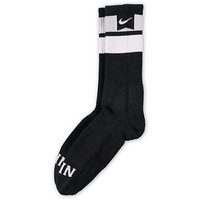 Nike Skateboarding Elite Dri-Fit Black Striped Crew Socks