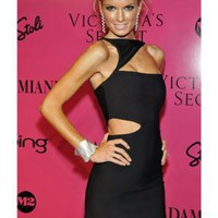Marisa Miller Cut Out Black Bandage Dress H287B