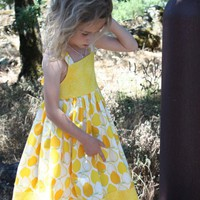 Lemon Drop Dress Custom Sizes 12m 8 by RamblinRoseDesigns