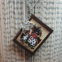 Miniature Book Necklace - Alice in Wonderland