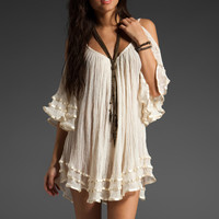 Jen&#x27;s Pirate Booty Nena Open Shoulder Dress in Natural from REVOLVEclothing.com