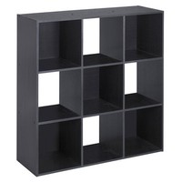 ClosetMaid Cubeicals 9 Cube Organizer Black Ash