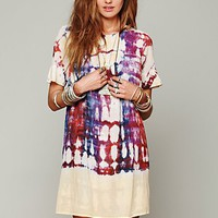 Free People Artus Tie Dye Shapeless Dress