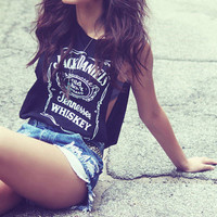 Jack Daniels Deep Cut Side Muscle Tank from ShopWunderlust