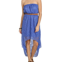Ruffle High-Low Crochet Dress | Shop Dresses at Wet Seal