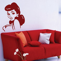 Retro Pin Up Wall Vinyl Decal Sticker Art Graphic by DabbleDown