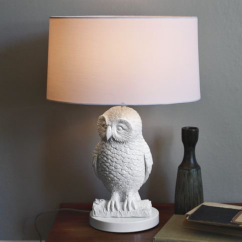 Owl Table Lamp - White/White | west elm