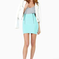 Helix Zip Skirt - Mint
