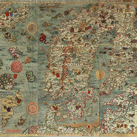 Big map Carta Marina, Antique world maps, Map, Old World Map, 17
