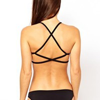 ASOS Mix and Match Moulded Cross Back Triangle Bikini Top at asos.com
