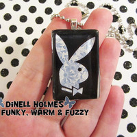 CLEARANCE SALE Playboy Bunny Glass Tile by FunFunkyWarmFuzzy