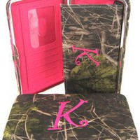 "Amazon.com: Soft Camo Initial "" K "" Thick Flat Wallet Clutch Purse Hot Pink Camoflauge: Clothing"