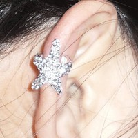 Unique Sparkly Starfish Ear Cuff