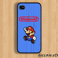IPHONE 5 CASE Mario Nintendo childhood  Wooden iPhone 4 case iPhone 4S case iPhone case Hard Plastic Case Soft Rubber Case