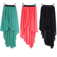 Back and Front Irregular Skirt