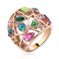 Fashion Multicolor Stone Ring for Woman