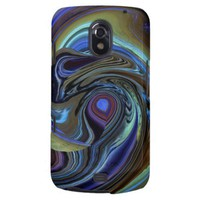 Purple N Gold Feather Abstract Galaxy Nexus Case from Zazzle.com