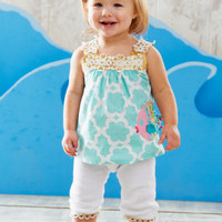 Mud Pie Baby - Mud Pie Fish Tunic And Legging - Lollipopmoon.com only $35.00 - New Items