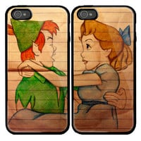 Peter Pan and Wendy Custom couple Case for iPhone 4 by viagrashop