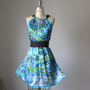 Dress / digital print dresses / WEAR ART  / Blue / Oil painting  / Romantic / Dreamy / Soft / Silk / Flowy / Delicate / Tunic / Art Dress