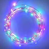 Starry Starry Lights - MultiColor Micro LED`s - 20ft LED Light String with 120 LEDs on a Ultra Thin Copper String, Includes Power Adapter: Patio, Lawn & Garden