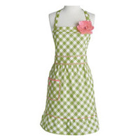 Jessie Steele Apron Courtney Meadow Green Gingham