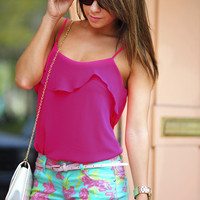 Hermosa Beach Blouse: Hot Pink | Hope&#x27;s