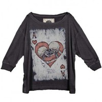 Ace Of Kissing Skull Top by Youreyeslie.com Online store&gt; Shop the collection