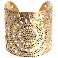 Gold cuff, circles, hammered cuff, moroccan jewelry, gold bracelet, fashion jewelry, dot jewelry, Statement cuff