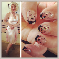 MARILYN MONROE PINUP Clear nail decals