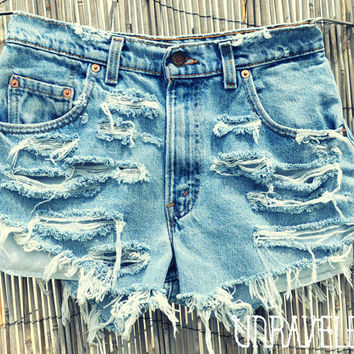 High Waisted Levis (SMALL)