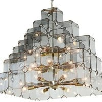 One Kings Lane - Harris Kratz - 1960s French Smoke Glass Chandelier