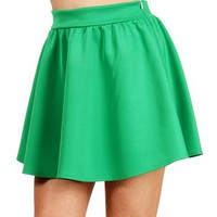SALE-Green Circle Skirt