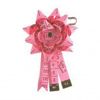 Tape Measure Rosette Brooch - pink - By collection - By product - Shop