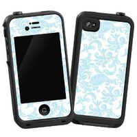 Soft Chateau Blue Damask &quot;Protective Decal Skin&quot; for LifeProof 4/4S Case