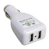2-Port USB Car Charger Adapter for iPod/iPhone, MP3, Cell Phone: MP3 Players & Accessories
