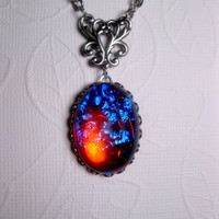 Fantasy Geekery Dragon&#x27;s Breath Opal Galaxy Necklace