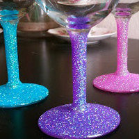 Glitter Wine Glass by PinpulsiveCrafter on Etsy