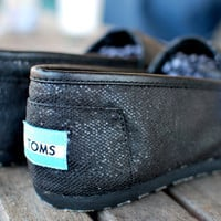 MURDERED Out Black Glitter TOMS shoes by BStreetShoes on Etsy