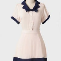 french class colorblocked dress at ShopRuche.com