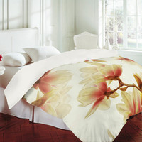 DENY Designs Home Accessories | Shannon Clark Sheer Magnolias Duvet Cover