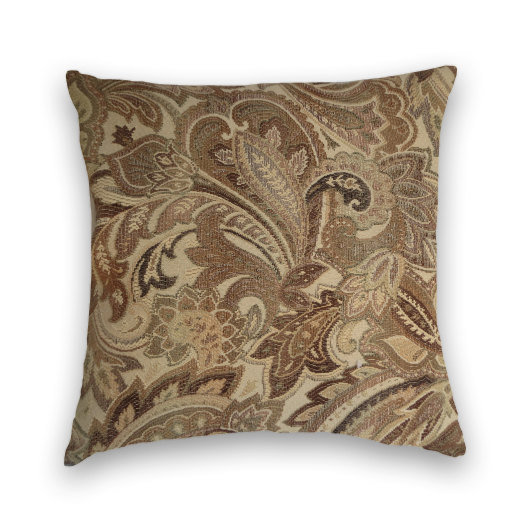 Light Colored Paisley Decorative Pillow from CodyandCooperDesigns