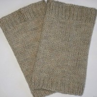 Knitted Merino Wool Leg Warmers Natural Color Pure Merino Wool